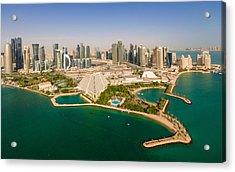 Doha, Qatar Acrylic Print by Midhat Mujkic