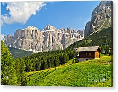 Dolomiti - High Fassa Valley Acrylic Print