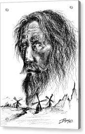 Don Quixote Acrylic Print by Boyan Donev