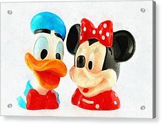 Donald Duck And Minnie Mouse Acrylic Print