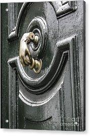 Acrylic Print featuring the photograph Door Knocker by Arlene Carmel