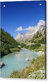 Dora Stream. Veny Valley Acrylic Print by Antonio Scarpi