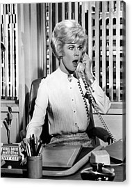 Doris Day In Lover Come Back  Acrylic Print by Silver Screen