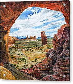 Acrylic Print featuring the painting Double Arch by Aaron Spong