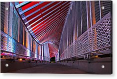 Double Helix Footbridge Acrylic Print
