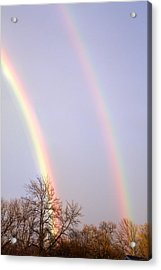 Acrylic Print featuring the photograph Double Rainbow by Courtney Webster