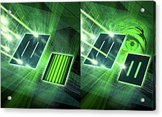 Double-slit Experiment Acrylic Print by Harald Ritsch