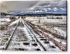 Down The Tracks Acrylic Print by Michele Richter
