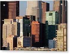 Downtown Los Angeles Acrylic Print by Mitch Diamond