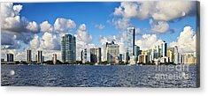 Downtown Miami  Acrylic Print by Eyzen M Kim
