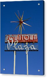 Downtown Plaza Acrylic Print by Matthew Bamberg
