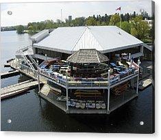 Dows Lake Pavilion, Ottawa Tulip Acrylic Print