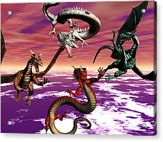 Dragon Attack Acrylic Print by Michele Wilson
