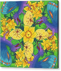 Dragondala Spring Acrylic Print by Mary J Winters-Meyer