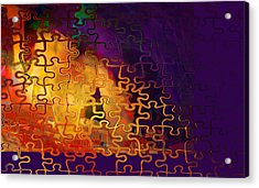 Dragon's Teeth Puzzle Acrylic Print
