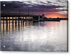 Drawbridge At Sunset Acrylic Print