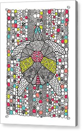Dream Turtle Acrylic Print by Susan Claire