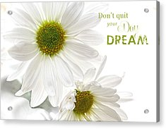 Dreams With Message Acrylic Print