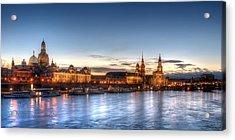 Dresden Skyline Acrylic Print by Steffen Gierok