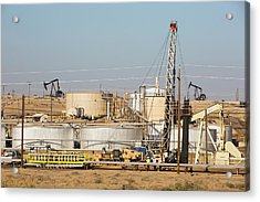 Drilling For Oil Acrylic Print by Ashley Cooper