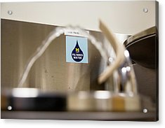 Drinking Water Filtration Sign Acrylic Print by Jim West