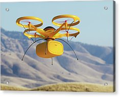 Drone In Transit Acrylic Print by Ktsdesign/science Photo Library