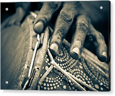 Drum Maker's Hands II Acrylic Print