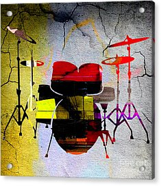 Drums Acrylic Print by Marvin Blaine