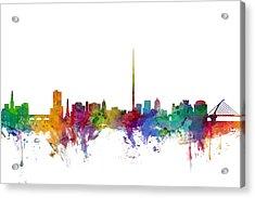 Dublin Ireland Skyline Acrylic Print