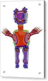 Duckelle Cartoon Character  Alien Monster Art Graphic Design Digital Complex Funny Comic Collage Col Acrylic Print