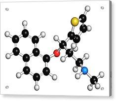 Duloxetine Antidepressant Drug Molecule Acrylic Print by Molekuul
