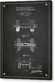 Dumbbell Patent Drawing From 1927 Acrylic Print by Aged Pixel