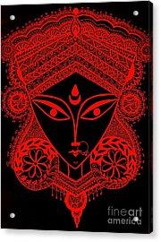 Durga Maa Acrylic Print by Sketchii Studio