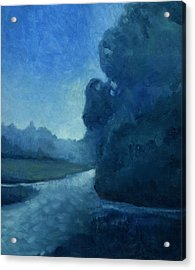 Acrylic Print featuring the painting Dusk by Katherine Miller