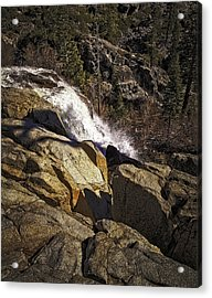 Eagle Falls Acrylic Print by Nancy Marie Ricketts