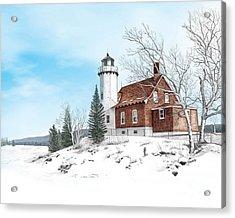 Eagle Harbor Lighthouse Acrylic Print by Darren Kopecky