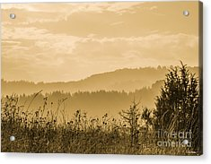 Early Morning Vitosha Mountain View Bulgaria Acrylic Print