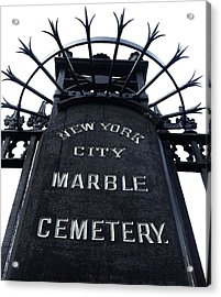 East Village Cemetery Acrylic Print by Natasha Marco