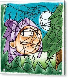 Eavesdropping Acrylic Print by Ismael Cavazos