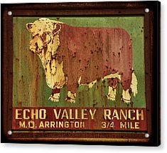 Echo Valley Ranch Acrylic Print