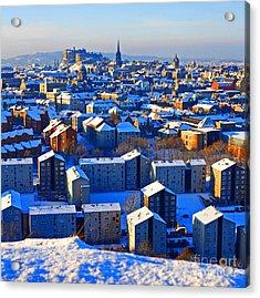 Edinburgh Winter Acrylic Print