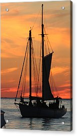 Edith M Becker At Sister Bay Marina Acrylic Print