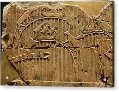 Egyptian Stone Tablet. Acrylic Print by Mark Williamson