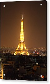Eiffel Tower - Paris France - 01131 Acrylic Print by DC Photographer
