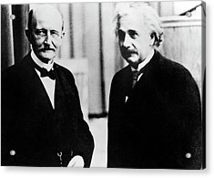 Einstein And Max Planck Acrylic Print by Emilio Segre Visual Archives/american Institute Of Physics