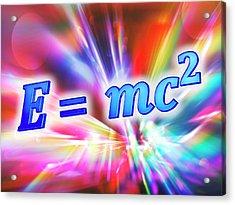 Einstein's Mass-energy Equation Acrylic Print by Alfred Pasieka