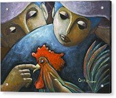 Acrylic Print featuring the painting El Gallo by Oscar Ortiz