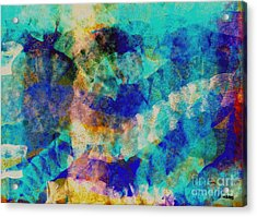 Electric Blue Acrylic Print by Julio Haro