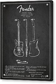 Electric Guitar Patent Drawing From 1959 Acrylic Print by Aged Pixel