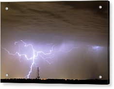 Electric Night Acrylic Print by James BO  Insogna